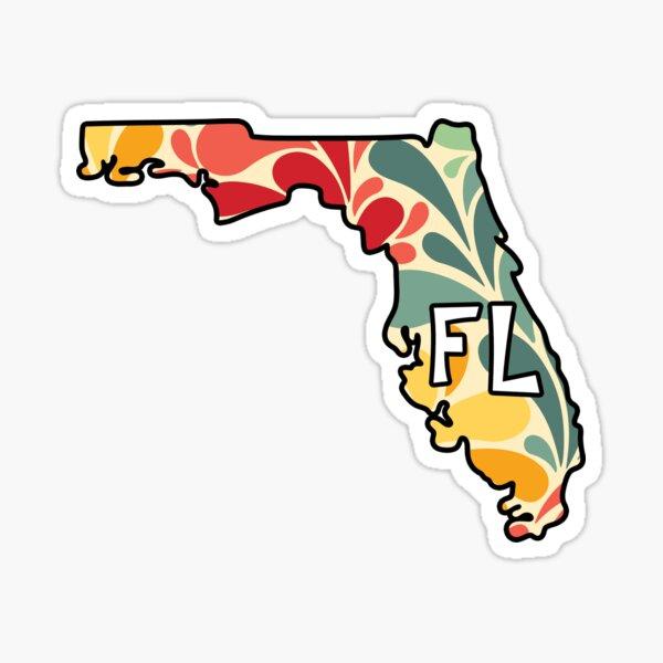 Floral Florida Sticker