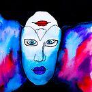 Masked Being Drawing by Kari Sutyla
