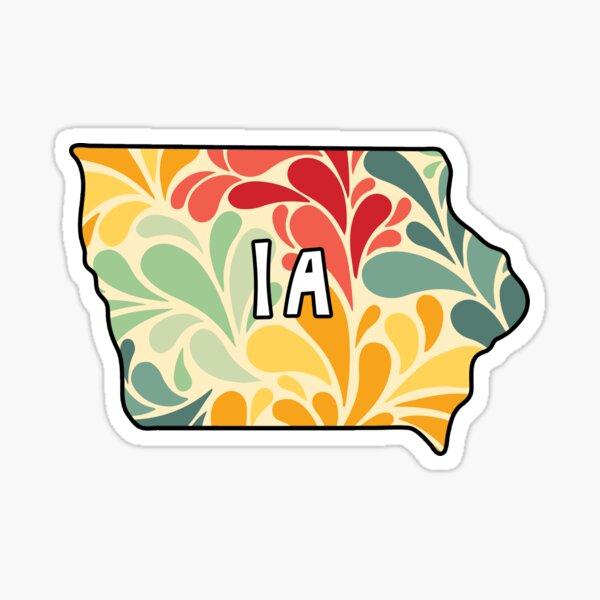 Floral Iowa Sticker