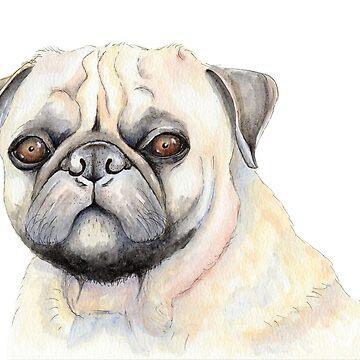 Wilbur the Pug Dog by shanmclean