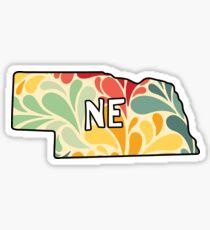 Blumen Nebraska Sticker