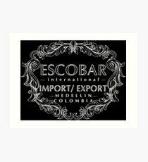 Escobar Import and Export White Glow Art Print