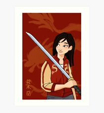 A Girl Worth Fighting For Art Print