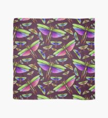 Rainbow Grasshoppers on Mulberry Scarf