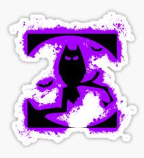 Bat halloween purple and black silhouette Sticker