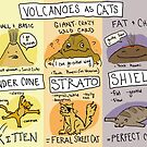 Volcanoes as Cats! by AlanaMcGillis