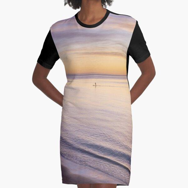 Sunset Paddle Graphic T-Shirt Dress