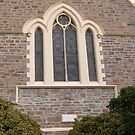 Beautful Stained Glass Window & Foundation Stone laid by J.H. Angas. Angaston. by Rita Blom