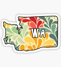 Floral Washington Sticker