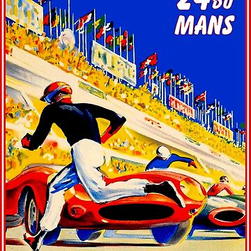 DU MANS : Vintage 1959 Restored 24 Hour Auto Racing Print by posterbobs