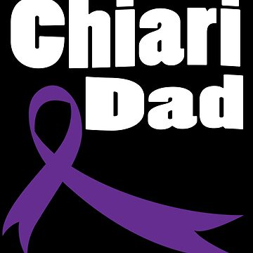 A Chiari Malformation Dad Purple Ribbon Awareness Gift by kh123856