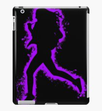 Silhouette fit purple and black silhouette iPad Case/Skin
