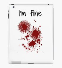 I'm Fine Graphic Zombie Slash Movie Halloween Injury Novelty Cool Funny  iPad Case/Skin