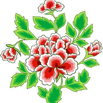Seamless Chinese Peonies Pattern by ernstc