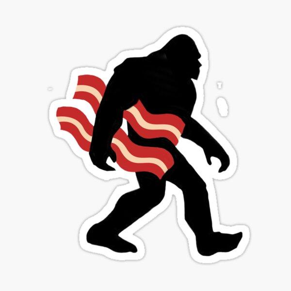 Keto Bigfoot Carrying Bacon Ketogenics Sasquatch Big Foot Sticker