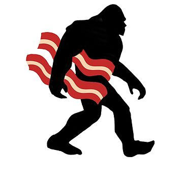 Keto Bigfoot Carrying Bacon Ketogenics Sasquatch Big Foot by JenniferMac
