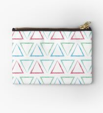 Peaks - Teal, Green, Red, & Blue #546 Studio Pouch