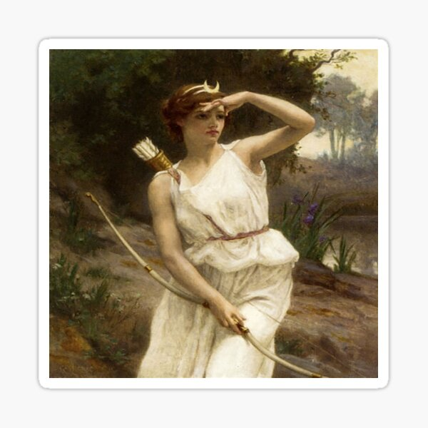 Diana Hunting- Guillarme Seignac Sticker