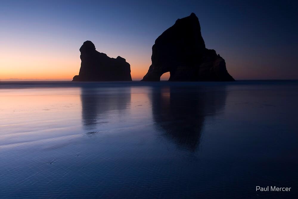 Sunset at Wharariki Beach by Paul Mercer