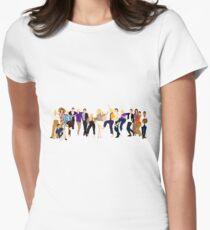 Mama Mia hier gehen wir wieder transparenten Hintergrund Tailliertes T-Shirt für Frauen