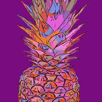 Psychedelic Pineapple Illustration Graphic by ShikitaMakes