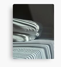 The Hospital Bed Sheets.  Metal Print