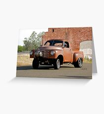 1948 Studebaker Pickup 'Gasser' Greeting Card