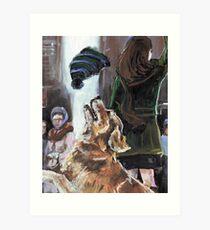 The Mary Tyler Moore Golden Retriever Art Print