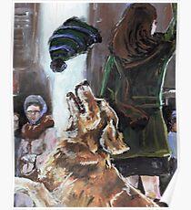 The Mary Tyler Moore Golden Retriever Poster