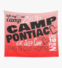 Camp Pontiac Red and White design Wall Tapestry