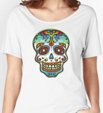 Mexican Sugar Skull, Day of the Dead, Dias de los muertos Women's Relaxed Fit T-Shirt