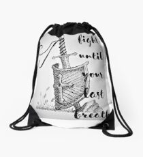 Death Is not an Option Drawstring Bag