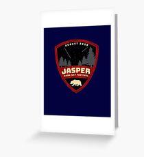 Jasper Dark Sky Festival August 12-21 Power Down Look Up Greeting Card