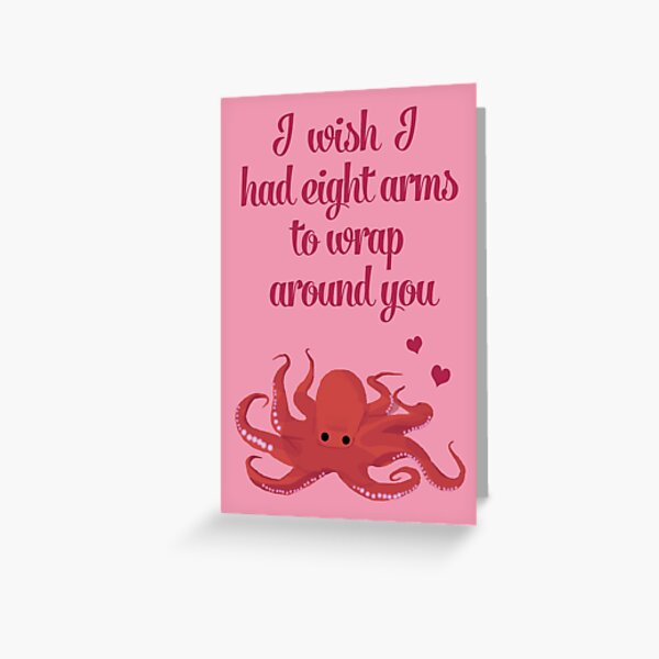 Octopus Valentine's Day Card Greeting Card