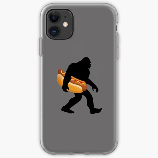 Bigfoot Carrying Hotdog Big Foot Sasquatch Loves Hot Dogs iPhone Soft Case