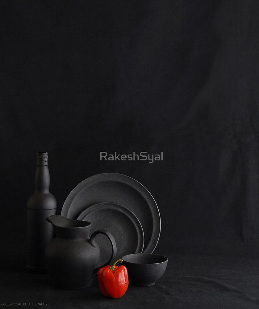BLACK WITH A  HINT OF COLOR by RakeshSyal