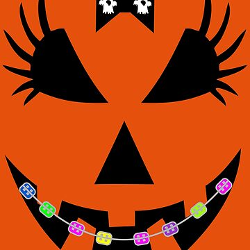 Pumpkin Face Tshirt- Halloween costume Party   by Tetete