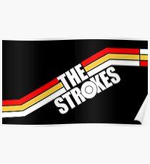 The Strokes Logo Striped Julian Casablancas Poster