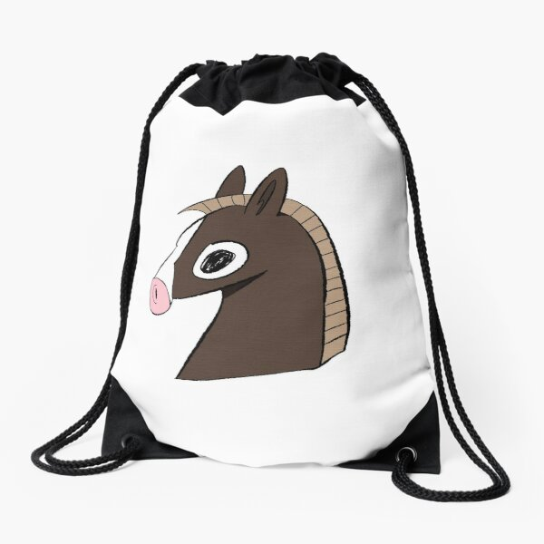Neigh whinny whinny Drawstring Bag