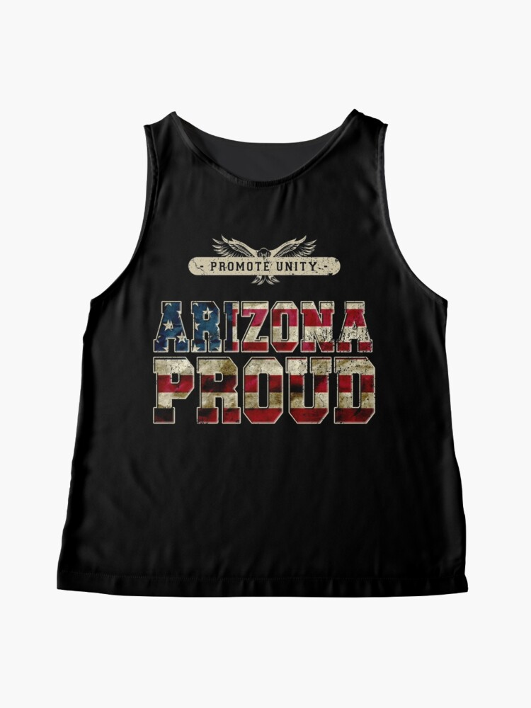 Alternative Ansicht von Stolz Arizonas fördern Einheit Stolzes starkes ehrfürchtiges Entwurfs-Geschenk Ärmelloses Top