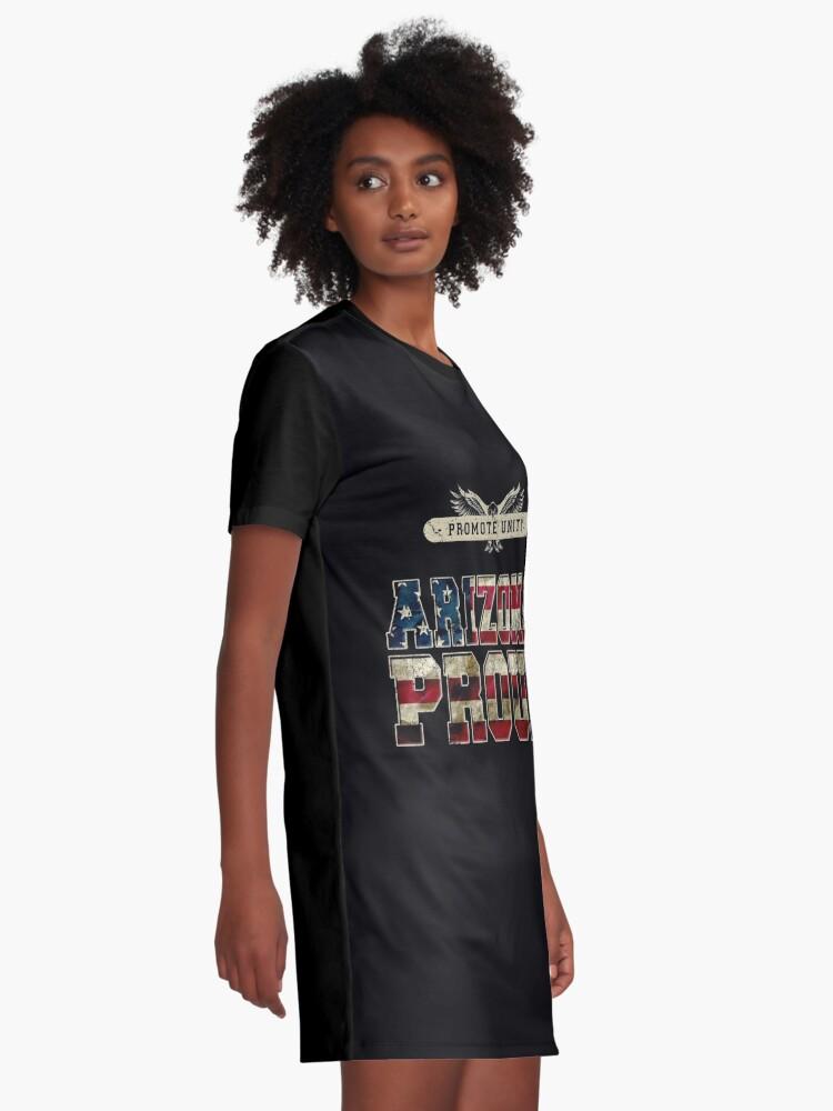 Alternative Ansicht von Stolz Arizonas fördern Einheit Stolzes starkes ehrfürchtiges Entwurfs-Geschenk T-Shirt Kleid