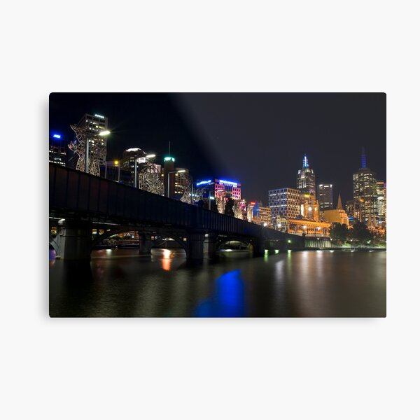 Southbank By Night Metal Print