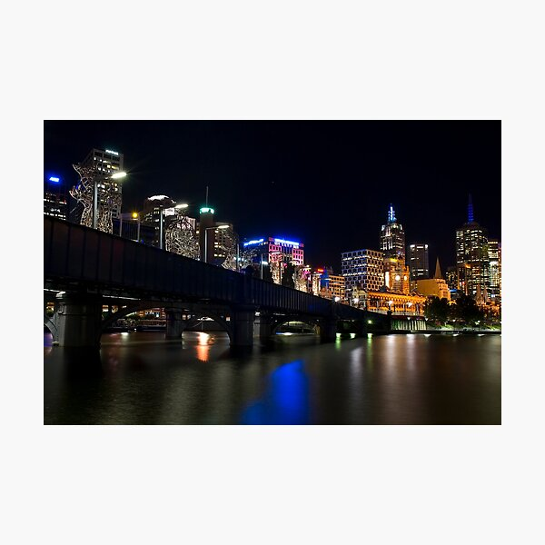 Southbank By Night Photographic Print