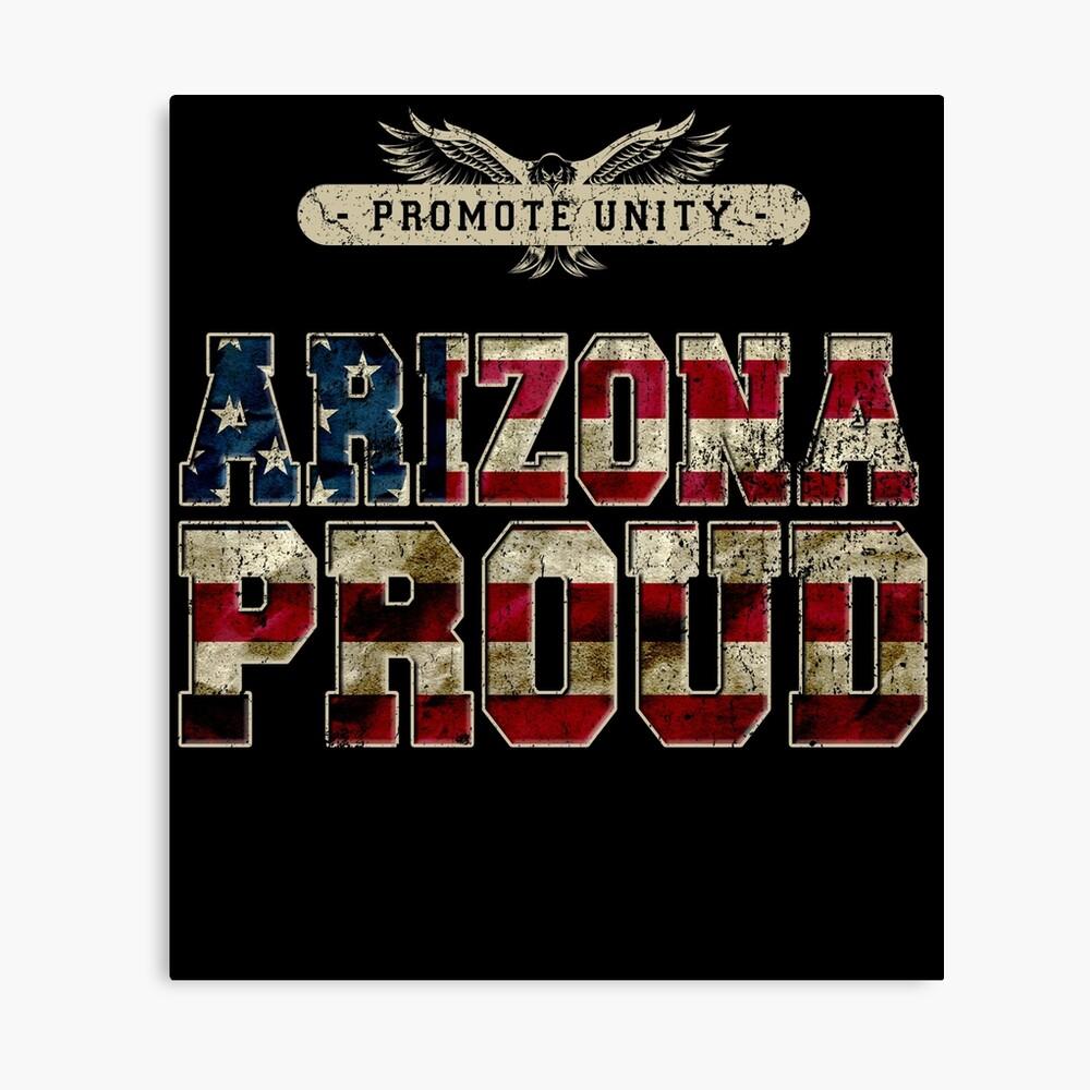 Stolz Arizonas fördern Einheit Stolzes starkes ehrfürchtiges Entwurfs-Geschenk Leinwanddruck