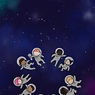 Space Baby - Baby Phone Case by Lingthusiasm