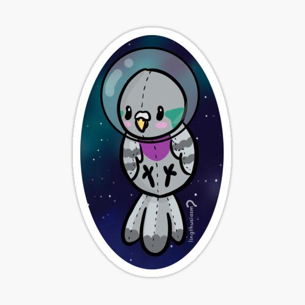 Space Baby - Pigeon Sticker Sticker