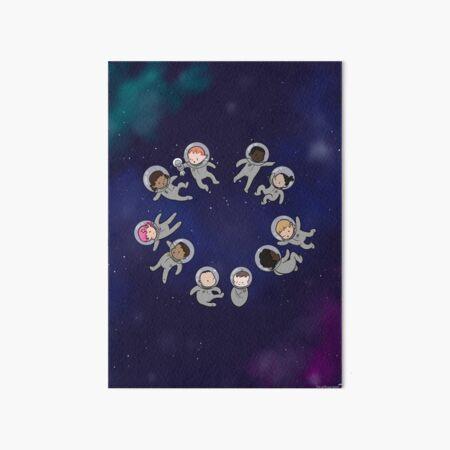 Space Baby - Art board Art Board Print