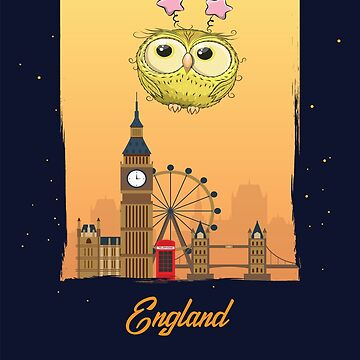 Little Yellow Owl in England / English Scenery / Time to Travel With an Owl by ProjectX23