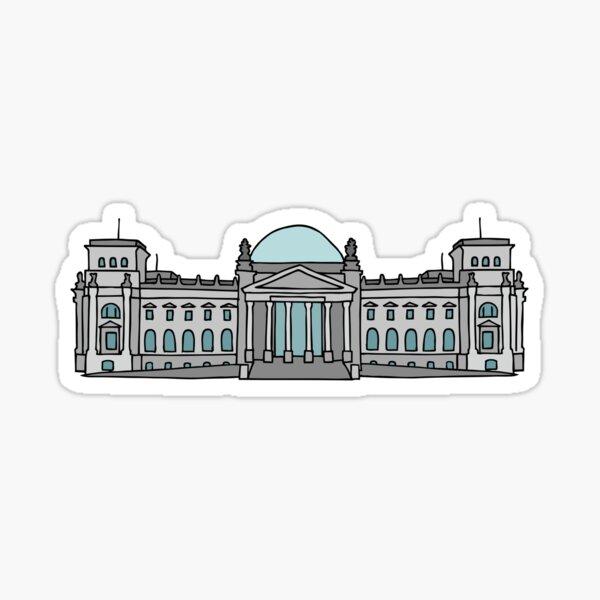 Palais du Reichstag à Berlin Sticker