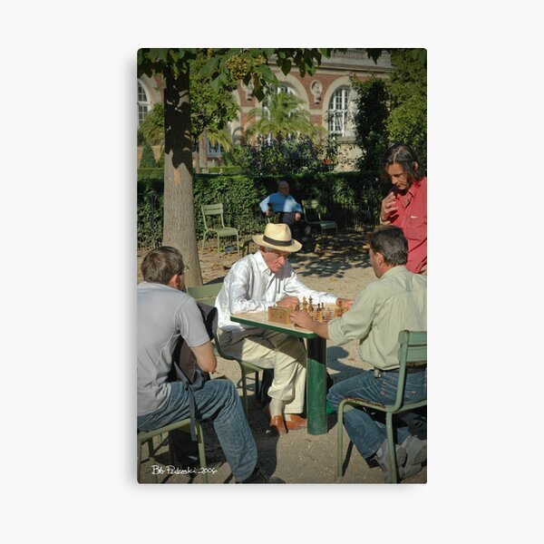 Chess in Luxembourg Gardens, Paris Canvas Print